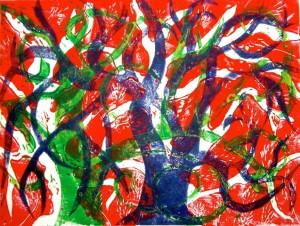 Linocuts of trees (1)