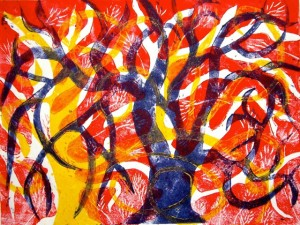 Linocuts of trees (2)