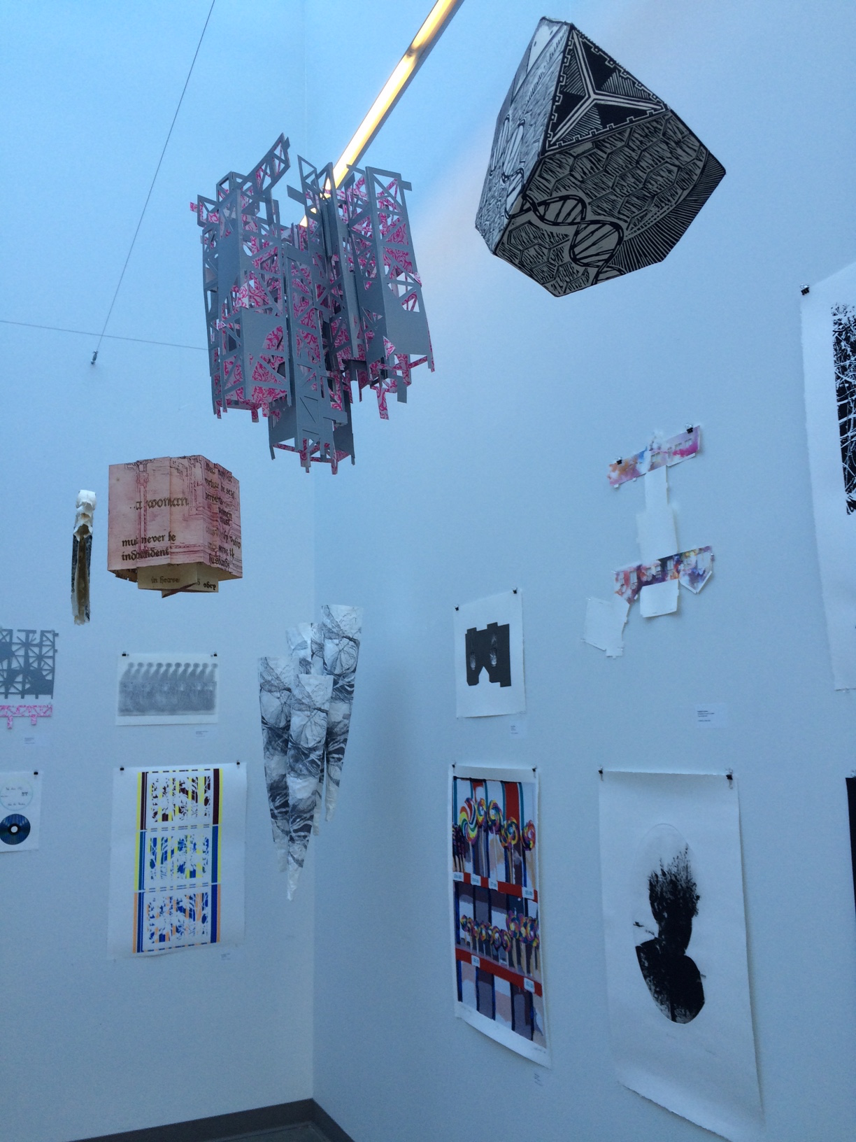Dimensional print exhibition at PNCA