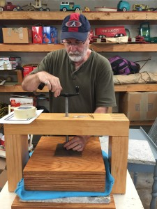 Using my handbuilt press