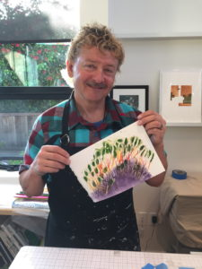Graham's first print in Aptos, CA, USA